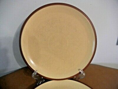 "Denby / Langley "" Juice Lemon - Yellow  ""  Lot Of  2  Dinner  Plates  10 5/8 """
