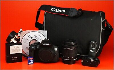 CANON EOS 700D DSLR Camera + 18-55mm Zoom Lens kit + Battery, Charger 2903  Shots