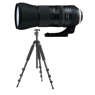 Tamron SP 150-600mm f/5-6.3 Di VC USD G2 Telephto Lens for Canon EF Mnt W/Tripod