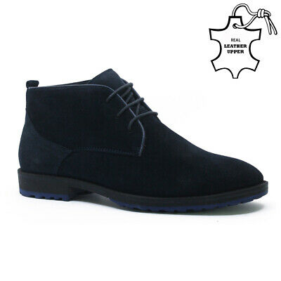Mens Suede Leather Retro Casual Lace Chukka Boots Ankle Desert Trainers Shoes