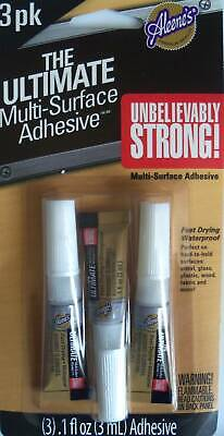 Aleene's Ultimate Multi-Surface Adhesive Tubes Ultimate Glue Fast Drying 3/Pkg