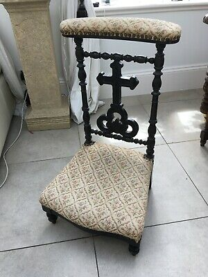 Vintage French Prie Dieu or Prayer Chair