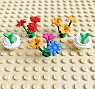 Lego Flower Plant Stalk with Stems Green Lot of 6