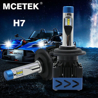 MECTek H7 LED Headlight Kit 9000LM Hi/lo Beam Bulbs 6000K 72W Replacement Xenon