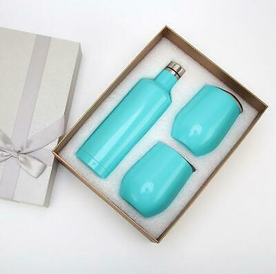 Insulated Wine Bottle Tumbler Gift Set Double Wall Stainless Steel Cocktails Cup