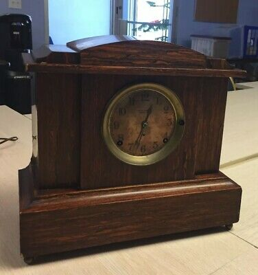 1910's Antique Seth Thomas Mantel Shelf Clock Adamantine Sonora Chime #495