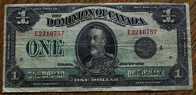 Beauty 1923 Large $1 Dominion of Canada Bank Note  DC-25o
