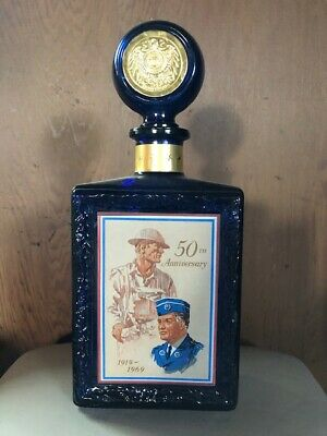 Whisky Bottle American Legion 50th Anniversary 1919-1969 by J. W. Dant