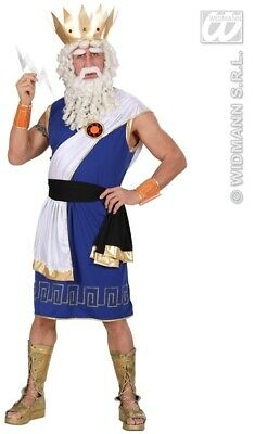 XL Mens ZEUS Costume for Ancient Roman Sky God Fancy Dress Outfit Extra Large