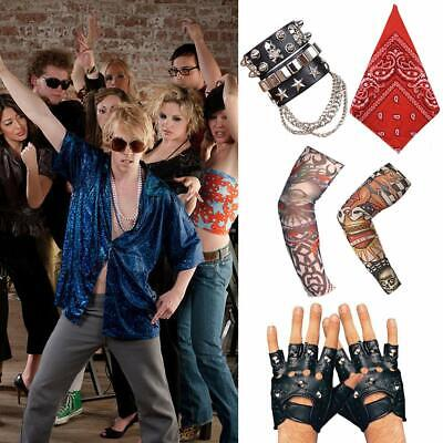 70s 80s 90s Punk Gothic Rocker Kit Costume Accessories with Skull Trousers Key