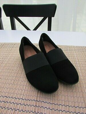 8e54514a411ad CLARKS UNSTRUCTURED UN Blush Lo Black Suede Leather Shoes ~ Size 4.5 ...