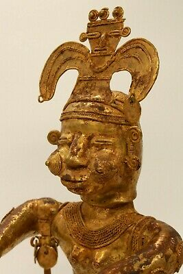 Pre-Colombian Tumbaga Shaman Holy Woman  Figure   Lost Wax Gold/Silver/Copper