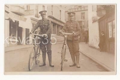 6th DEVONS G Coy WW1 SOLDIERS & BICYCLES in ILFRACOMBE, 1914 RP_Phillipse & Lees