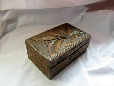 An Antique Hand Carved Wooden Box