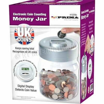 Digital Coin Jar Counter & LCD Display | Accepts ALL UK coins | FREE UK Delivery