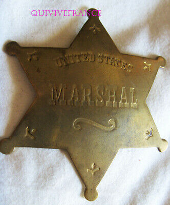 IN13273 - Obsolete United States Marshal Six Pointed Star Badge