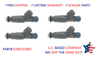 4pcs OEM Bosch Flow Matched Fuel Injector for Mercury Cougar Mystique 0280155887