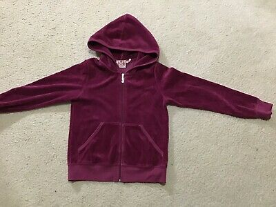 EUC Juicy Couture Kids Girls Hooded Jacket 8