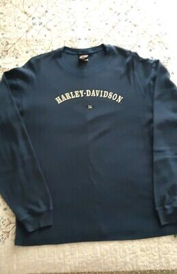 Harley Davidson Mens Long Sleeve Thermal Size LARGE, Blue . Zepka JOHNSTOWN, PA
