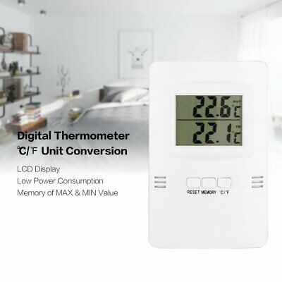 Digital LCD Thermometer Mini Temperature Meter Room Indoor Outdoor -10-50℃ 9f