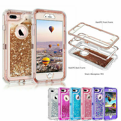 360° Liquid Glitter Bling Heavy Duty Case For iPhoneX X XR Xs Max 7 8 Plus 6 6S