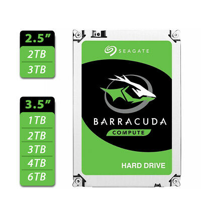 "Seagate BarraCuda 1TB 2TB 3TB 4TB 6TB 2.5"" 3.5"" SATA Internal Hard Drive HDD"