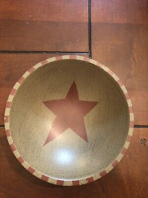Primitive Wooden Bowl with star