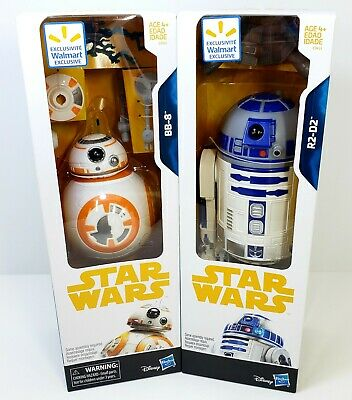 Disney Star Wars BB-8 and R2-D2 8in. Droids Collection (Walmart Exclusives) NIB