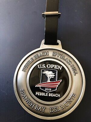 Pebble Beach Resorts Metal Bag Tag With 2019 US Open Logo- New