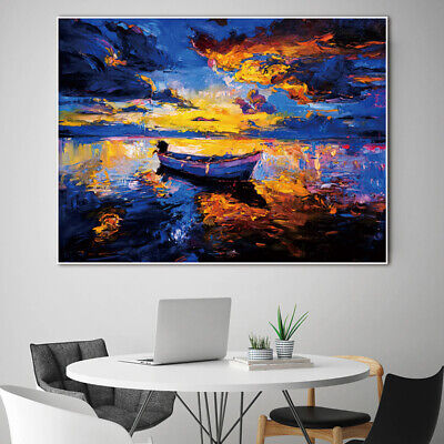 Canvas Painting Wall Art Picture Abstract Modern Landscape Sea Flower Unframed