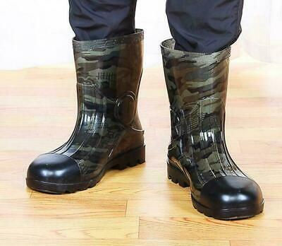 Camouflage Men's Rain Shoes Ankle Boots Waterproof Non-slip Rubber Boots New