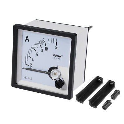 AC 0-20A Analog Panel Ammeter Gauge Ampere Current Meter SJ-72 1.5% Tolerance
