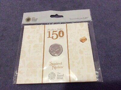 Beatrix Potters Squirrel Nutkin 50p BU Coin Presentation Pack by The Royal Mint