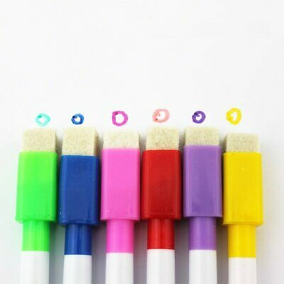 8x Multicolor Whiteboard Marker Pens Dry Wipe Erase Magnetic Lid Kids Gift DS