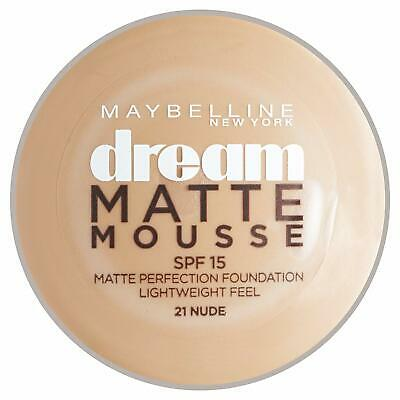 Maybelline Dream Matte Mousse | 021 NUDE | Matte Perfection Mousse | SPF 15