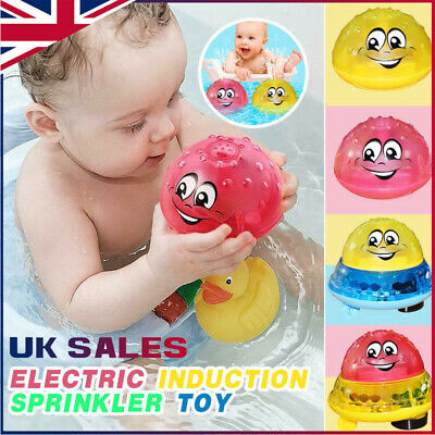 Funny Infant Electric Induction Water Spray Ball Light Children Baby Bath Toy