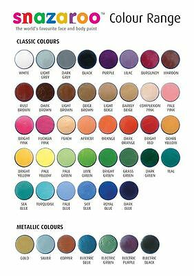 Snazaroo Face Paints Make Up Classic Colours Painting Party 18ml Fancy Dress