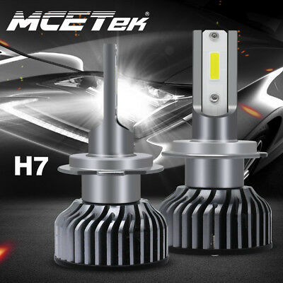 Super Focus Beam MINI H7 LED Headlight Kit 72W 9000LM Hi/Lo Beam Bulbs 6000K DRL