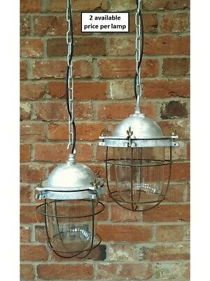 Vintage Explosion Proof Glass Caged Pendant Light/Lamps REWIRED 3 available