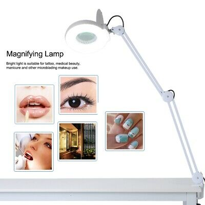2-IN-1 8X Desktop Magnifying Lamp LED Lamp Magnifier Reading Salon Stand Light
