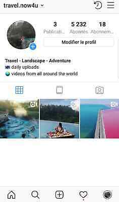 Instagram account 5K real and active travel nich