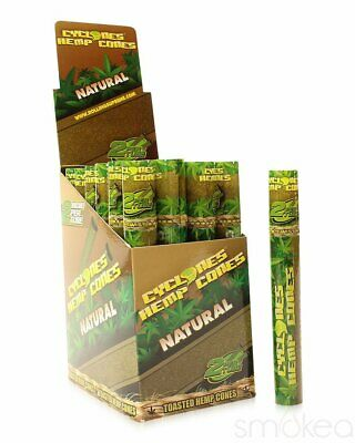 Cyclones Natural Hemp Pre-Rolled Cone Blunt Wraps (2-Pack)
