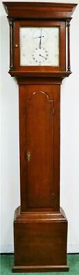 Very Rare Antique English C1790 Oak 30 Hour Striking Regulator Longcase Clock