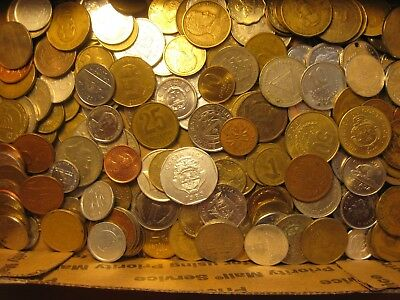 Lot of 1 pound of Coins. Best picked from pounds of world coins.  NO DUPLICATES