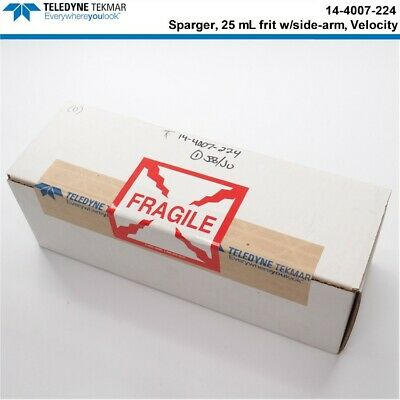 NEW Teledyne Tekmar Sparger 25ml frit with side-arm, Velocity (P/N: 14-4007-224)