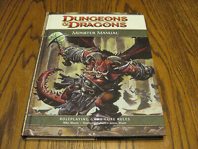 Dungeons & Dragons Monster Manual Hardcover RPG D20 2008 Very Good