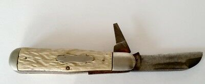 Circa 1920's, Stag Horn, Heavy Folding, 2 Blade Pocket Knife
