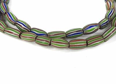 Rainbow Chevron Venetian Trade Beads Striped Melon Africa SALE WAS $25.00