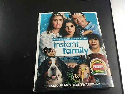 Instant Family  ( Blu-Ray + Dvd +   Digital   ) Brand New Sealed