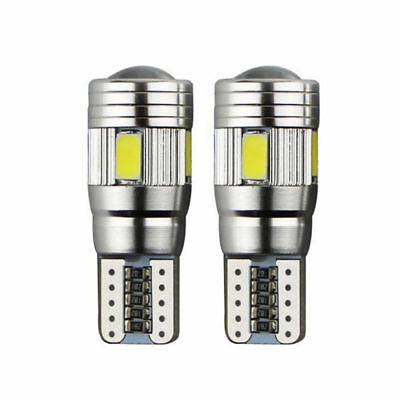 2 X T10 501 194 W5W 5630 LED 6SMD Car HID CANBUS Error Free Wedge Light Bulb New